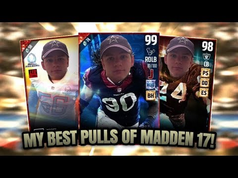 MY BEST PULLS OF MADDEN 17!!! SO MANY LIMITED TIME PULLS! | MADDEN 17 ULTIMATE TEAM