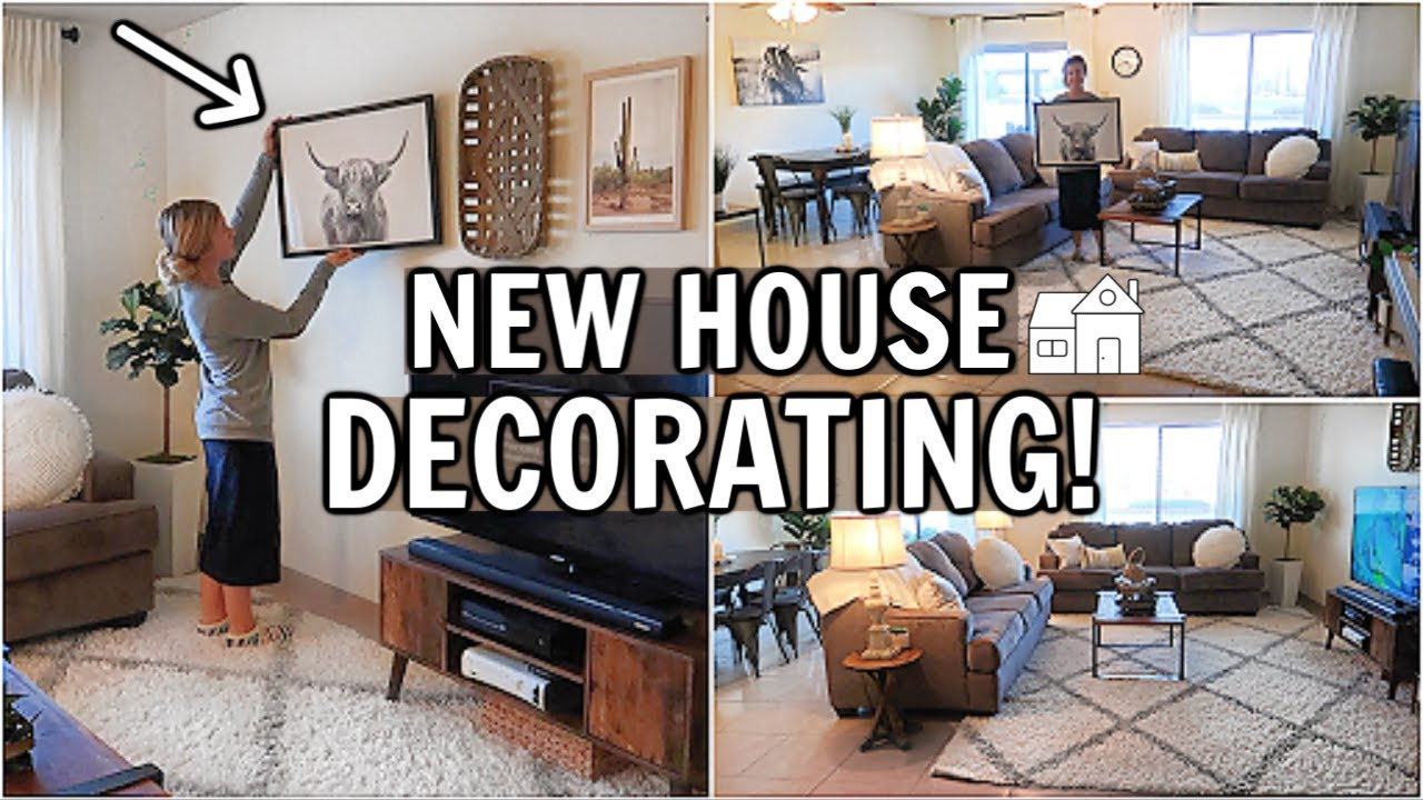 DECORATING THE NEW HOUSE! BEFORE & AFTER | CLEAN & DECORATE WITH ME 2019