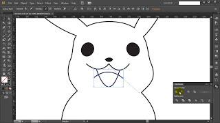 How to draw PIKACHU POKEMON GO - Adobe illustrator tutorial #1