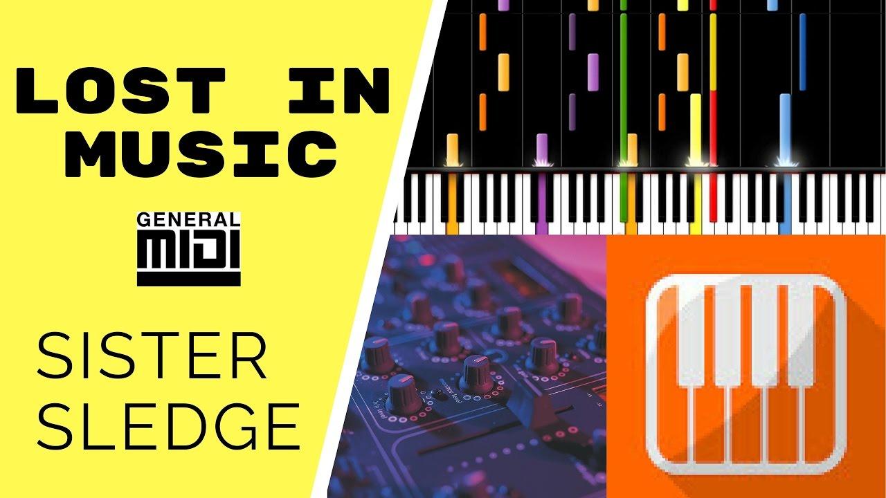 Lost In Music (Single Version) / Sister Sledge (MIDI backing track &  tutorial)