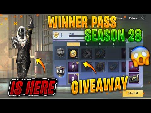 PUBG MOBILE LITE SEASON 28 WINNER PASS   how to get free winner pass in pubg mobile lite