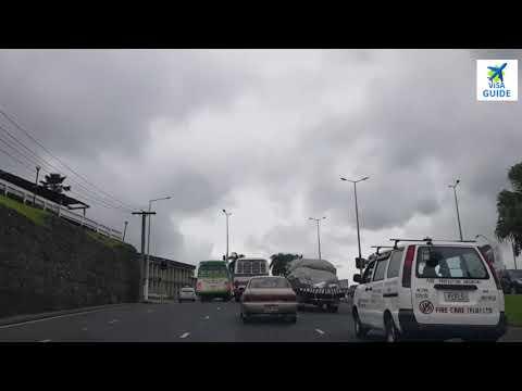 Driving In SUVA City Capital Republic Fiji Island.