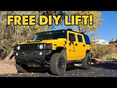 FREE 3min DIY Lift for Hummer H2 (Crank torsion keys) No need for leveling kit!  How To