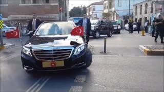 Президент Турции Реджам Тайип Эрдоган и его  охрана