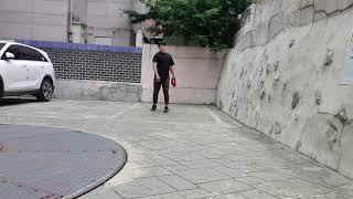 프로선수 포수와의 케치볼   (사토포수미트 테스트 ft…