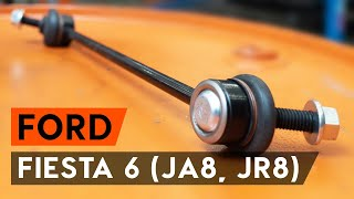 How to change Stabilizer bar link on FORD FIESTA VI - online free video