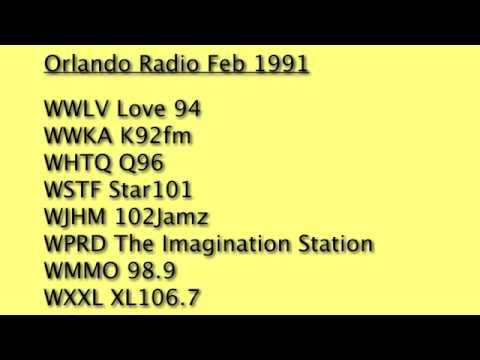 WWLV WWKA WHTQ WSTF WJHM WPRD WMMO WXXL Orlando 1991