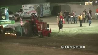 9,000LB ALTERED FARM TRACTORS PREBLE CONTY  OHIO FAIR PULL AUGUST 4, 2016