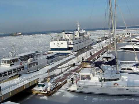 Sea Port. Winter. Odessa. Ukraine