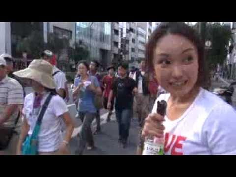 千葉麗子 さようなら原発7/16 俊逸レポ後半 IWJ - YouTube