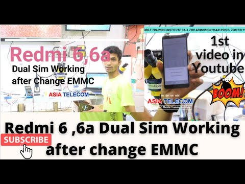 Redmi 6 ,6a Dual Sim Working after change EMMC Repair By #ASIATELECOM TEAM 1st in YouTube history