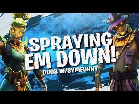 SPRAYING 'EM DOWN! Duos W/ Symfuhny (Fortnite BR Full Match)