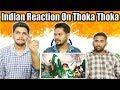 Pakistani Replied Thoka Thoka Song to mauka mauka Indian Song | Indian Reaction | Krishna Views