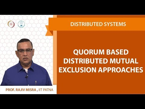 Lecture 08 - Quorum Based Distributed Mutual Exclusion Appro
