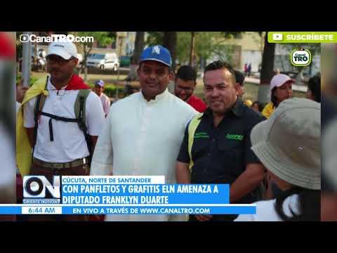 Con panfletos y grafitis ELN amenaza a Diputados en Venezuela