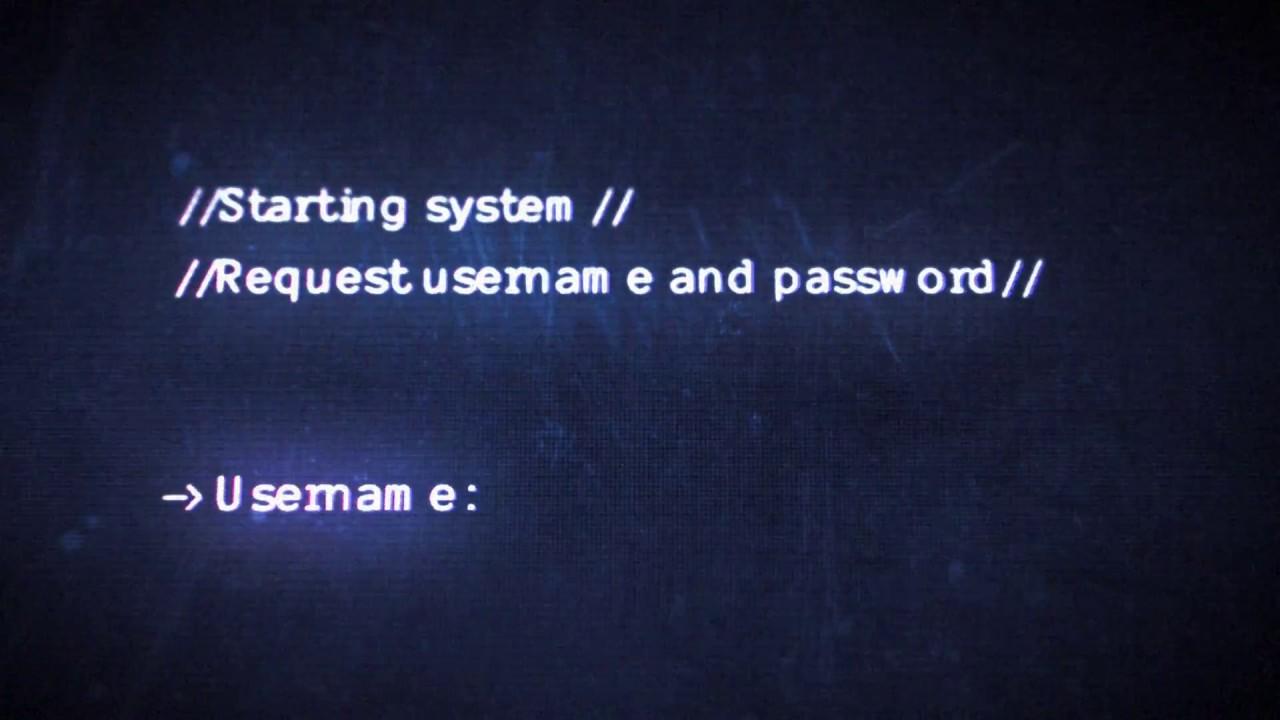 Hacker logo intro