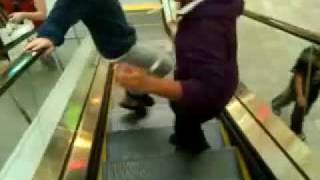 PTJC jerkin on the escalator