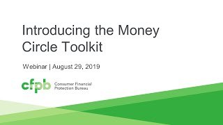Webinar: Introducing the Money Circle Toolkit — consumerfinance.gov