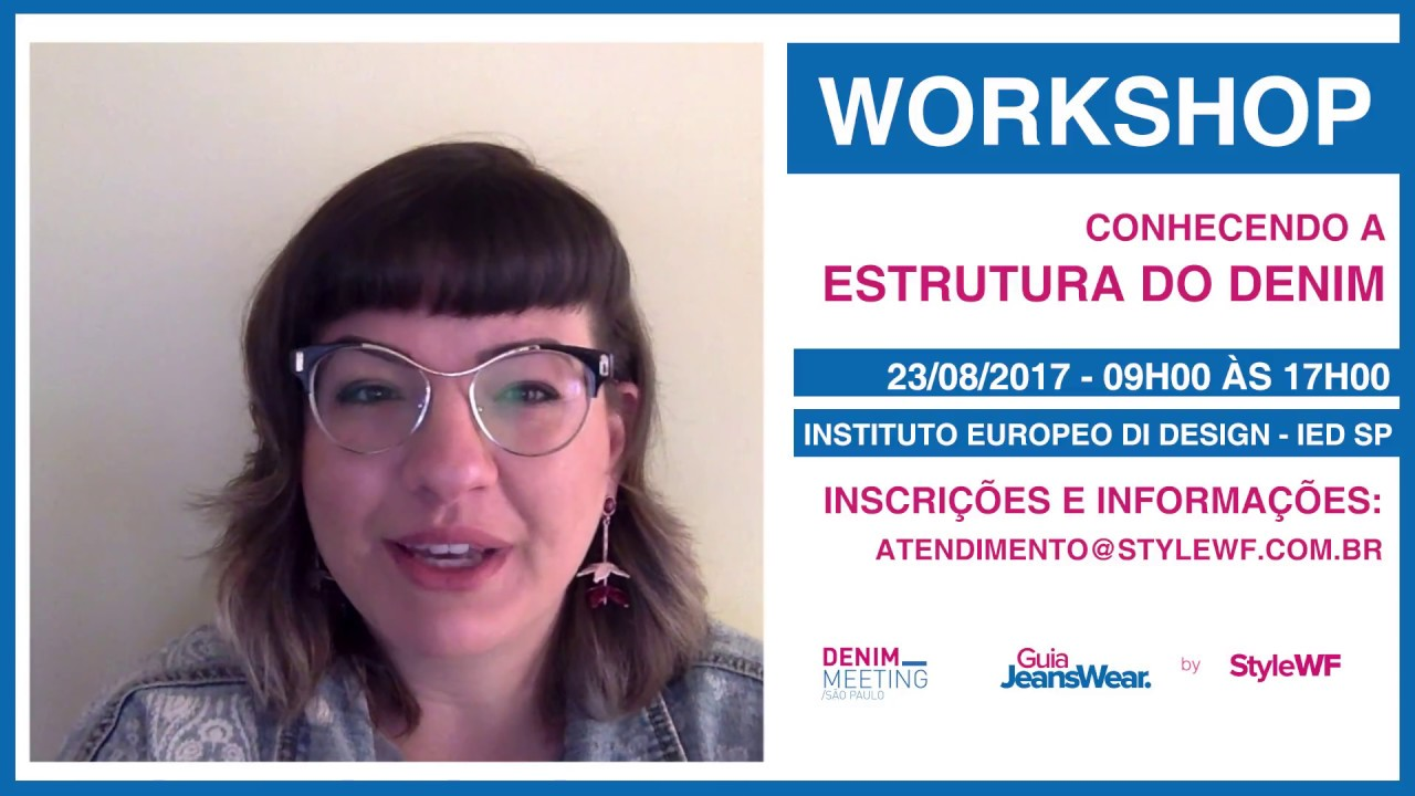 90ddc9ab588a Workshop Estrutura do Denim - YouTube