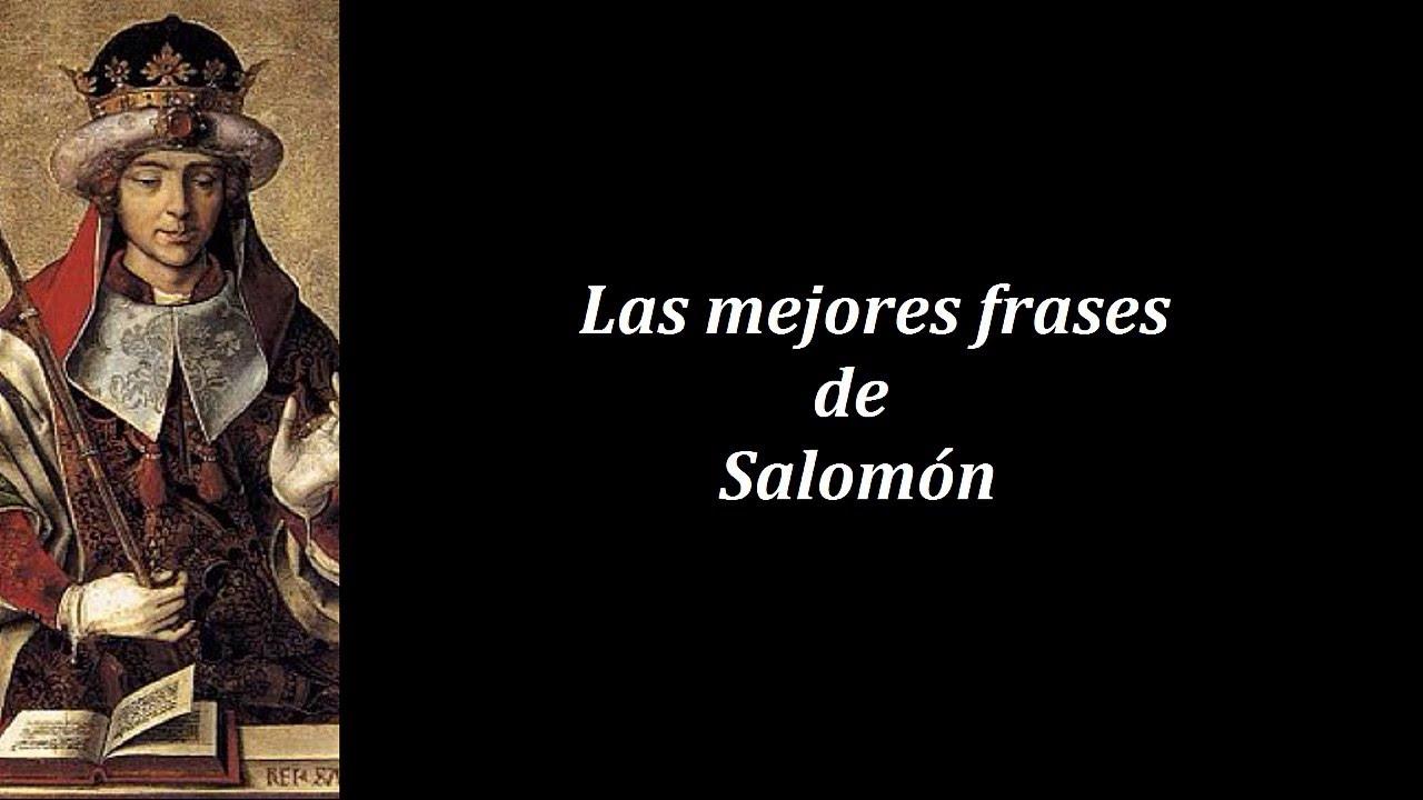 Frases Célebres De Salomón