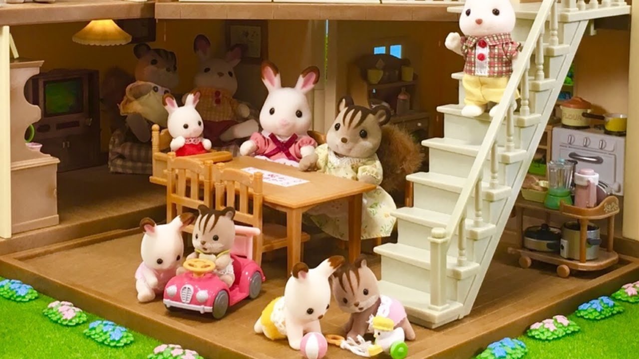 Sylvanian Families City House With Lights - YouTube