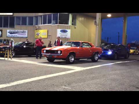 1969 Z/28 Chevy Camaro Vs GT Supercharged Mustang Camaro Broke out, to fast DAMN It Drag Racing