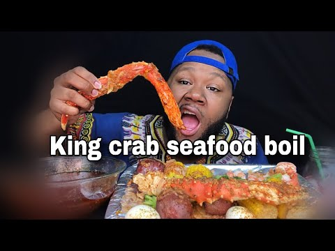 King Crab Seafood Boil W Dippin Dash Butter Sauce Mukbang | Happy Black History Month