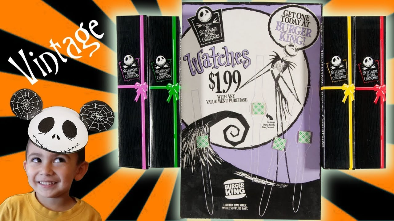 Vintage Disney Nightmare before Christmas Watches Burger King Jack ...
