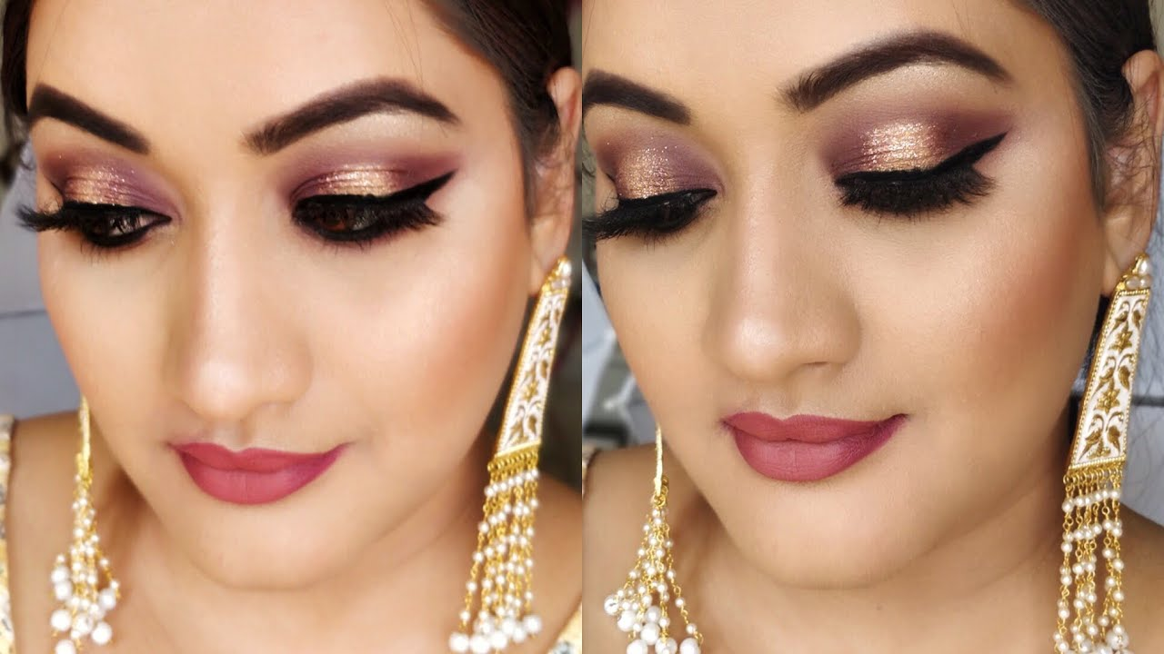 Indian Party Makeup Glitter Eye Makeup For Wedding