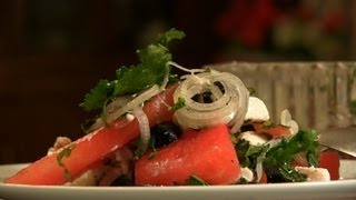 Home-made Watermelon & Feta Cheese Salad By Asha Khatau