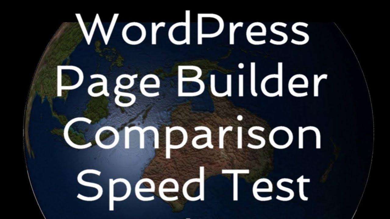 WordPress Page Builder Comparison - Australia 2018
