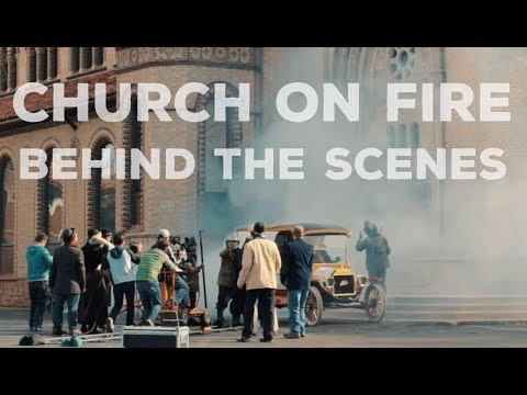 Church Fire Scene BTS