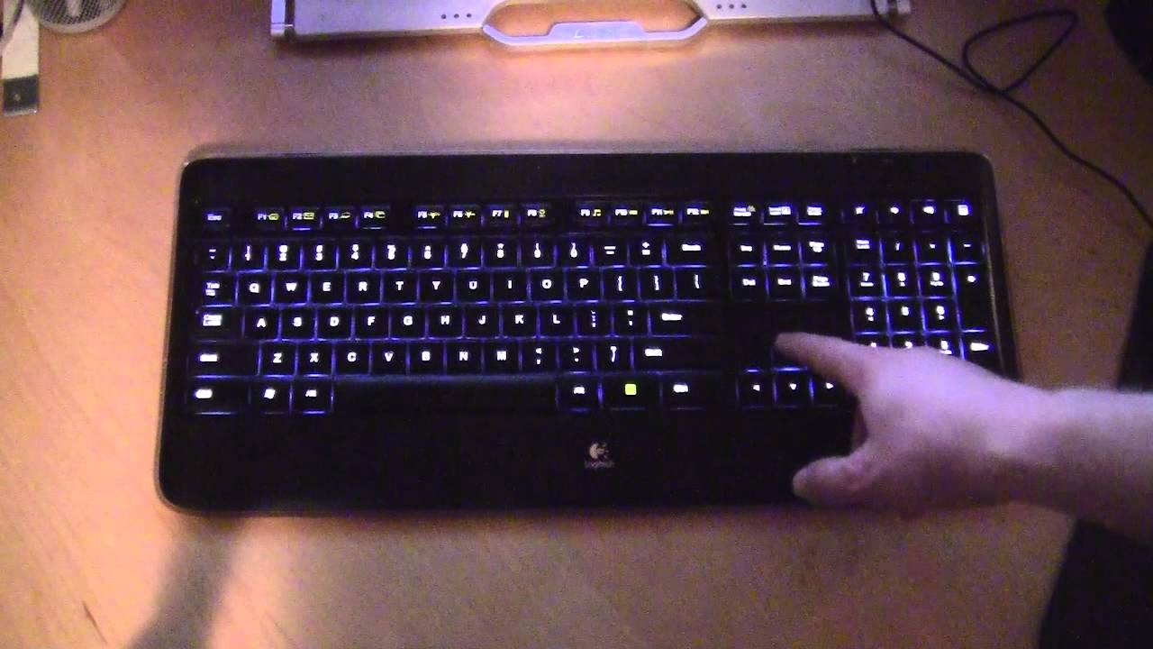 2d1e2d28503 Logitech K800 Wireless Illuminated Keyboard in Action! - YouTube