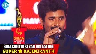 Sivakarthikeyan Imitating Superstar Rajinikanth @ SIIMA 2014, Malaysia