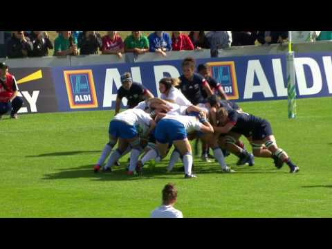 HIGHLIGHTS: USA v Italy at Women's Rugby World Cup