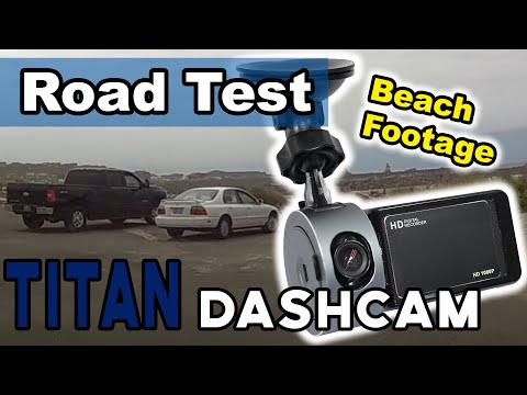 1080p Wide Angle Titan Dash Camera Beach Driving HD