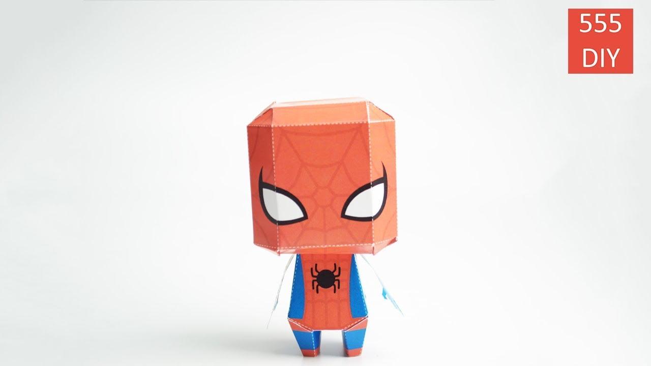 diy super hero marvel spiderman paper craft youtube