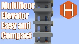 Multi-floor Bubble Elevator Easy and Compact 1.13+ Minecraft Tutorial