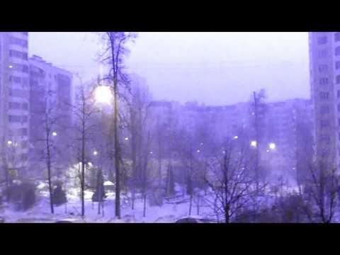 МОЛНИЯ ЗИМОЙ? Аномальная гроза Снегопад 19.01.2019