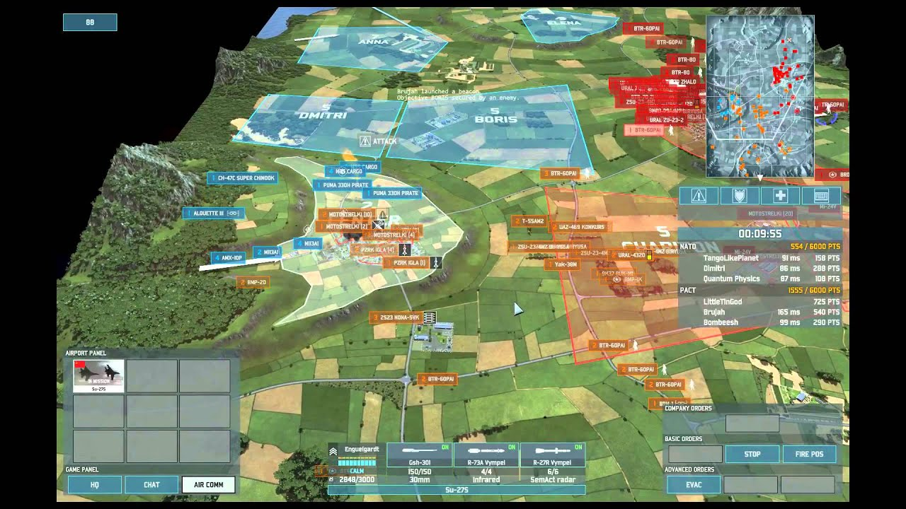 Wargame AirLand Battle 3v3 on Lillehammer new map Soviet Air