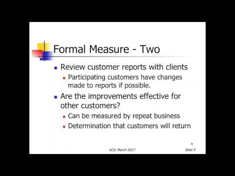 Assessing Customer Satisfaction with Marlene Moore