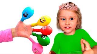 Развивающее видео Для детей Учим цвета Лопаем воздушные Шарики с водой Поем песенку На Английском