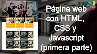 Diseñando una página web con HTML, CSS y Javascript - Primera parte