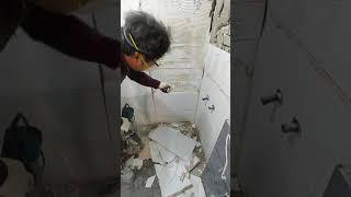 욕실리모델링 타일본드 시공 단점(타일백서)