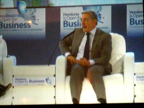 Alvaro Uribe en Honduras is Open for Business