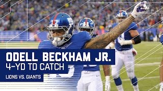 Odell's Stellar Snag on 3rd Down & One-Handed TD Catch! | Lions vs. Giants | NFL Week 15 Highlights