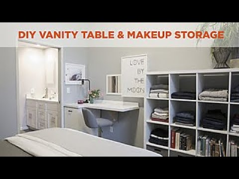 Small Bedroom Storage Diy Vanity And Makeup Table Hgtv