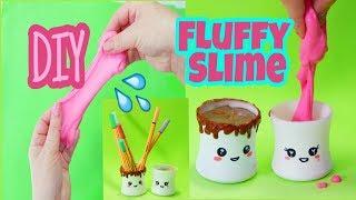 DIY Kawaii com material reciclável +  Receita fácil de FLUFFLY Slime DIY / KawaiiBox