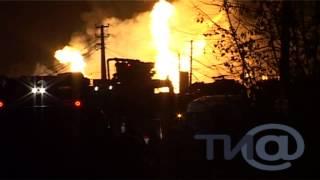 В Твери прогремели взрывы - горит автозаправка.mpg