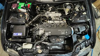 homepage tile video photo for THE CRAZIEST CIVIC ENGINE BAY TRANSFORMATION!(DRY ICE BLASTING)
